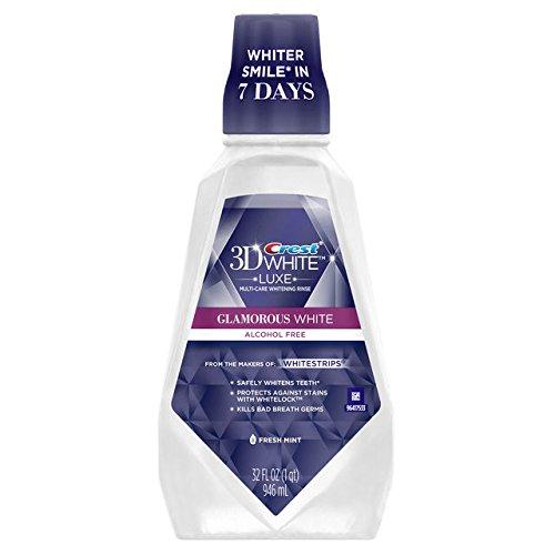 Crest 3D White Multi-Care Whitening Rinse Fresh Mint 32 Ounce(Pack of 2)