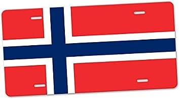 Placa de matr/ícula de Noruega Auto Slim