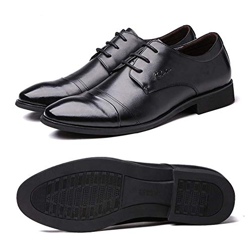 Cordones Zapatos Hombres para para 5 de Color Marrón Derby Zapatos 5 tamaño para de US de Cuero de Hombres Zapatos Negocios Hombres Cuero Hombres de HhGold Negro Vestir Ocasionales de UK para 6 5 dYzOndf