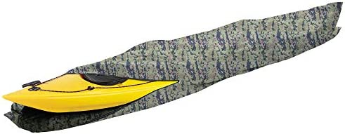 Camo and Grey 10ft//13ft//16ft Heavy Duty Kayak Canoe Case for Outdoor Storage and Travel iCOVER Kayak Cover