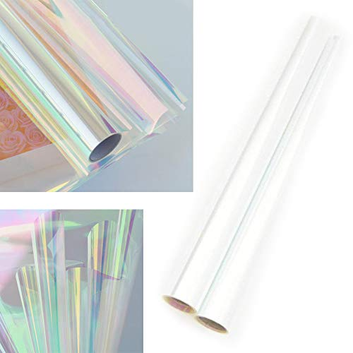 Cellophane Wrap Roll Rainbow | 35′ Ft. Long X 20″ in. Wide | 2.3 Mil Thick Rainbow Multi-Color | Gifts, Baskets, Treats, Cellophane Wrapping Paper | Colorful Cello Christmas, Holiday Color