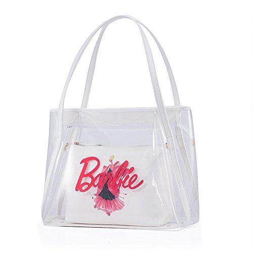Barbie BBFB254 Bolso Transparente Colección de Princesa Bolso de Multiutilidad blanco