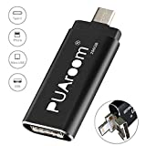 PUAroom USB Flash Drive for iPhone iPad 256GB Memory Stick, 4-in-1 OTG USB