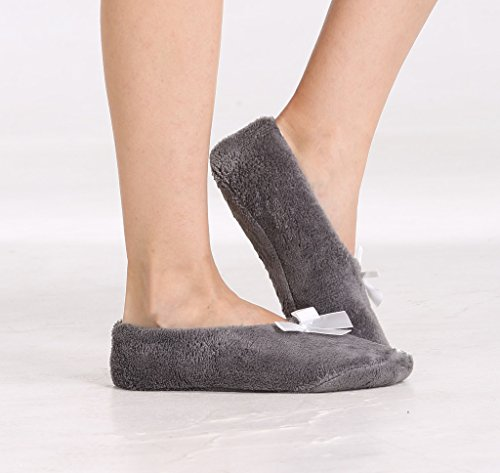 House adults Pembrook for women Slip On Soft Slippers girls Fleece Gray Slippers Coral Fuzzy qqwz0vZ
