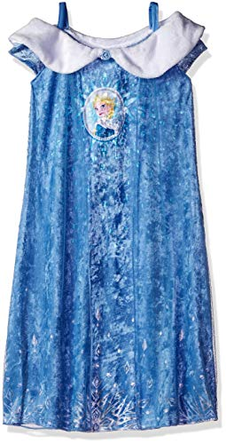 Disney Girls' Little Frozen Elsa Fantasy Nightgown, Winter Royalty, 6 -