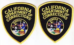 (CDC California DEPT of Corrections 2 Full Color Shoulder Patches CA Police by HighQ Store)