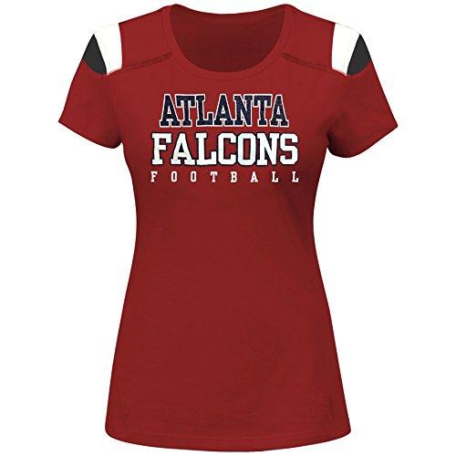 NFL Atlanta Falcons Women S/S  PANEL SHOULDER, CARDINAL/BLACK, 1X