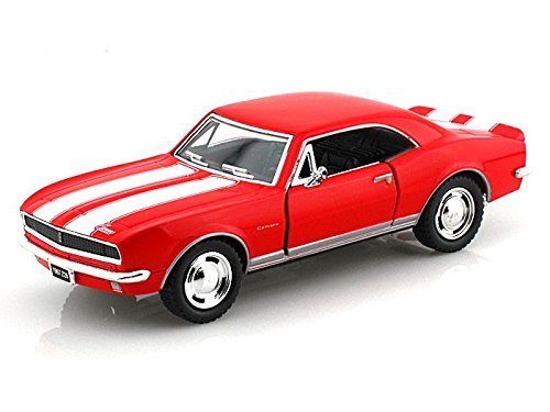 1967 Chevy Camaro Z/28, Red - Kinsmart 5341D - 1/37 scale Diecast Model Toy Car (Brand New, but NO BOX) ()