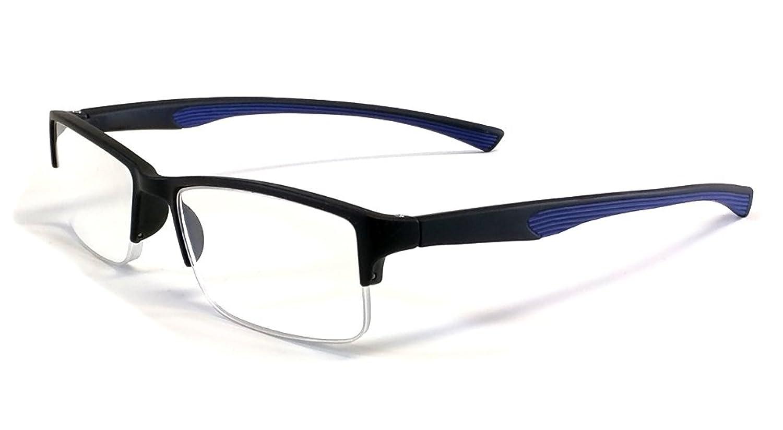 Amazon.com: Calabria 6904 Semi-Rimless Flexie Reading Glasses in ...