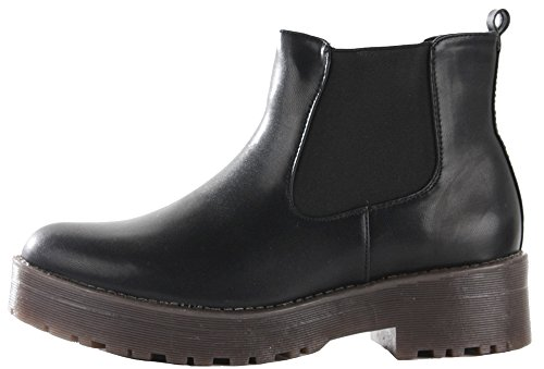 Winter Chelsea Size Flat Womens Leather Short 3 New Ankle Low Pixie Heel Style 8 15 Vintage Black Ladies Boots w48qft8