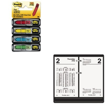 Kitaags17050mmm684sh   Value Kit   At A Glance Financial Desk Calendar Refill  Aags17050  And Post It Arrow Message 1 2Amp Quot  Flags  Mmm684sh