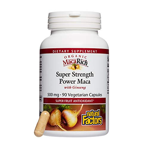 Ginseng Power - MacaRich by Natural Factors, Super Strength Power Maca, Superfruit Antioxidant Supplement with Ginseng, 90 capsules (90 servings)