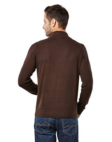 Vincenzo Boretti Men's Sweater with ribbed turtle-neck, slim-fit,brown,Large by Vincenzo Boretti (Image #2)