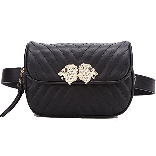 f674376d86cf Beatfull Designer Leather Waist Bag for Women with Lion Insect ...