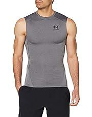 Under Armour Mens Armour HeatGear Compression Sleeveless T-Shirt Sleeveless