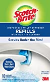 Scotch-Brite Disposable Toilet Scrubber Refills with Built-In Cleaner, Scrubs Under the Rim, Removes Rust & Hard Water Stains, 10 Refills