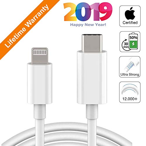 Compatible for iPhone Xs Max XR X 8 Plus 8,iPad Pro 12.9,iPad Air 3 10.5 UGREEN USB-C to Lightning Cable 3FT MFi-Certified Supports Power delivery Fast Charging Syncing with Type C PD Charger