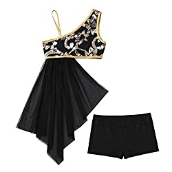 Girls Lyrical Dancewear In Black