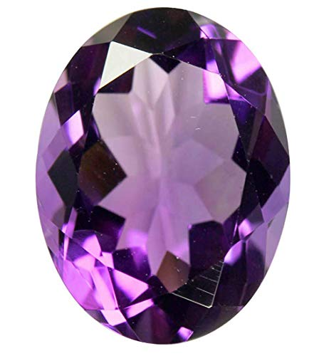 PRAJAPATI GEMS Lmdprajapatis Certified Unheated Untreated 11.25 Ratti 10.75 Carat A+ Quality Natural Amethyst Loose Gemstone for Women and Men