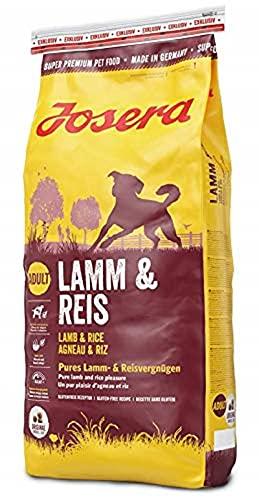 JOSERA Lamm & Reis (1 x 15 kg) | Hundefutter mit Lamm als einziger, tierischer Eiweißquelle | Super Premium…