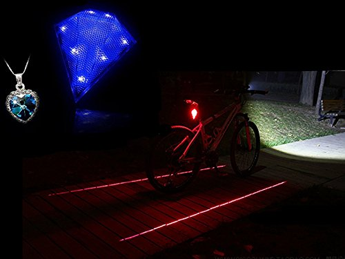 Triángulo bicicleta azul trasera bicicleta cola haz de luz de seguridad Ubranded