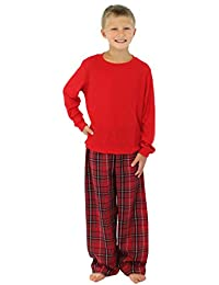 SleepytimePjs Family Matching Plaid Thermal Pajamas PJs Sets for the Family