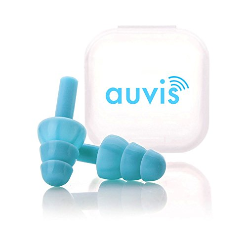 Noise Cancelling Ear Plugs for Sleeping and Snoring by AUVIS (2 Pack) - Soft Silicone Reusable Earplugs Sound Blocking