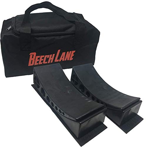 Beech Lane Camper Leveler 2 Pack with Carrying Bag - Two Levelers, Two Chocks, Two Grip Mats, One Carrying Bag