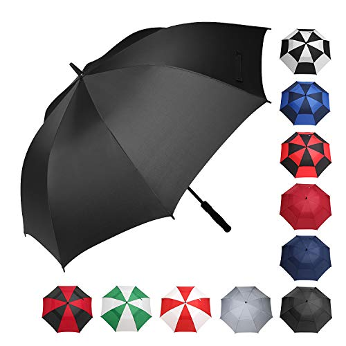BAGAIL Golf Umbrella 68/62/58 Inch Large Oversize Windproof Waterproof Automatic Open Stick Umbrellas for Men and Women (Black 58 Inch)