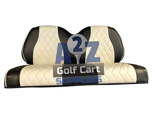 (Gulf Coast Golf Carts GCGC Club Car Precedent Front & Rear Seat Covers | Black & White |)