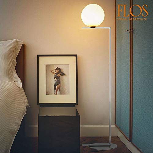 Flos IC F2 Floor Lamp Chrome and Blown Glass US Version ...