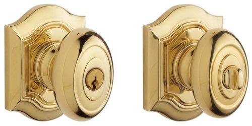 Baldwin 5239.003.ENTR Bethpage Knob Keyed Entry Set, Lifetime Polished Brass