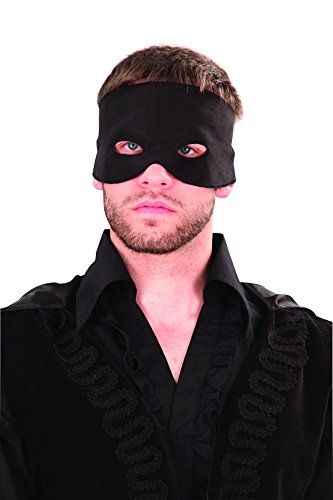 Museum Replicas Don Juan Zorro Black Mens Brushed Cotton Costume Mask -