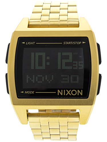 Nixon Base Men's Retro Style Smart Watch (38mm. Digital Face/Stainless Steel Band)