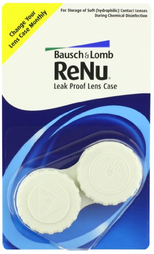 Bausch + Lomb ReNu Leak Proof Soft Eye Contact Lens Cases,6ct from Bausch & Lomb