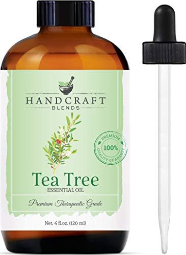 Handcraft Tea Tree Essential Oil - 100% Pure and Natural - Premium Therapeutic Grade with Premium Glass Dropper - Huge 4 fl. oz