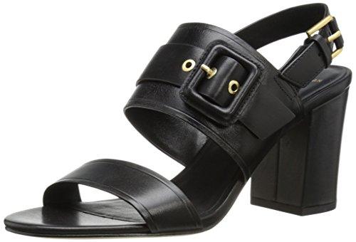 Cole Haan Women's Amavia High Sandal,Black Leather,8 B US