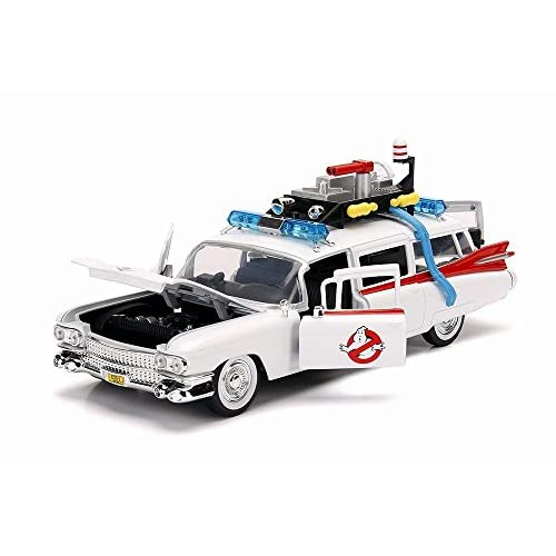 Jada Voiture CADILLAC Eldorado Ghostbusters ECTO 1 Ambulance du Film SOS Fantômes en Métal au 1/24