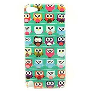 Green Owl Pattern Back Cover Hard Case for iPod Touch5