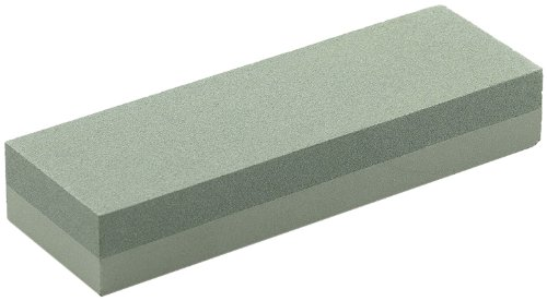 Bora 6-Inch Green Silicon Sharpening Stone. 2 Sided Fine/Course for Sharpening ()