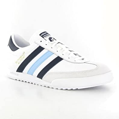 adidas Beckenbauer Allround White Blue Leather Mens Trainers
