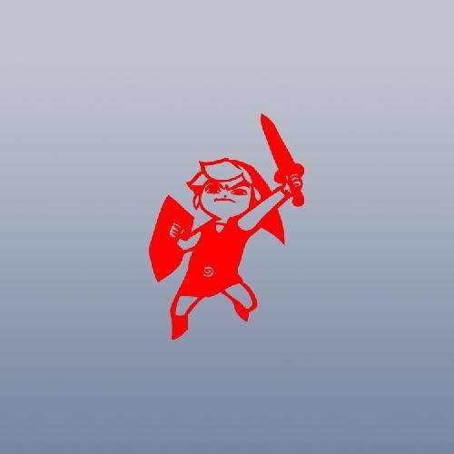 (RED WALL ART NOTEBOOK BIKE VINYL CAR DIE CUT ADHESIVE VINYL HELMET AUTO WALL LEGEND OF ZELDA ART STICKER DS LITE NDS NDSL LAPTOP MACBOOK CAR DECORATION)