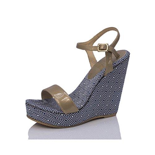 Mtbali Compensées Atenas modèle Bleu Sandales Femme rrU5wqC