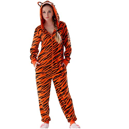 Women's Warm Cozy Character Adult Onesies for Women One-Piece Novelty Pajamas(Brown-M) ()