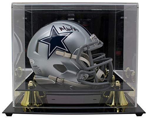 Michael Gallup Signed Dallas Cowboys Mini Speed Helmet w/Deluxe Case TriStar Dallas Stars Mini Hockey Helmet