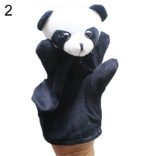 [Delicate Baby Child Zoo Farm Animal Hand Glove Puppet Finger Sack Plush Toy^panda.] (Kermit The Frog Mens Halloween Costume)