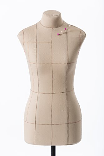 BETTY Premium HALF-SCALE (1:2 to XS size) Professional Tailor Form Beige | Flexible Dress Form | Sewing Mannequin | Dummy Female | Torso -  Royal Dress forms, RDF-bettyPR-beige