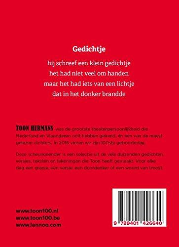 2016 Een Jaar Met Toon Toon Hermans Scheurkalender Amazon