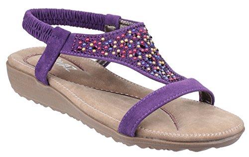 Sandales violet Divaz femme violet pour TvCnxXqw