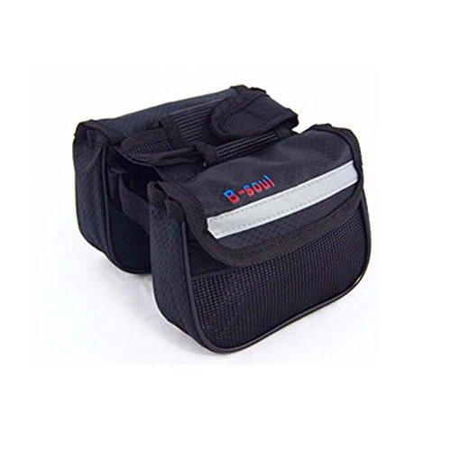 ENCOCO Bicycle Cycling Top Tube Saddle Bag Bag Bike Frame Bag Rack Double Side with Mobile Phone Pouch by ENCOCO